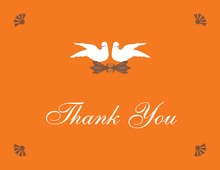 Sassy Carrot Orange Doves Thank You Cards