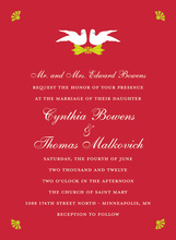 White Doves In Holiday Invitations
