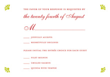 Doves In Magically Red RSVP Cards