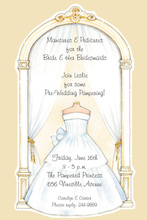 Wedding Arch White Gown Invitations