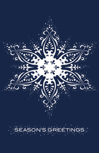 Large Snowflake Folded Greeting Cards