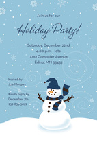 Happiest White Snowman Invitations