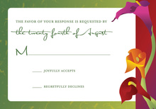 Exterior Tulips RSVP Cards