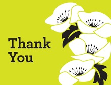 Nicely Lime Green Floral Thank You Cards