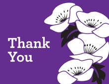 Sweet Floral Purple Thank You Cards