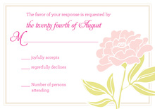 Light Pink Flowers RSVP Cards