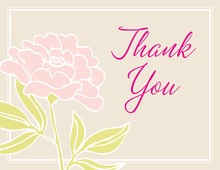 Special Pink Flowers Thank You Cards