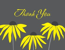 Bright Yellow Flowers Thank You Cards