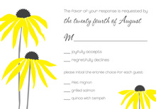 Modern Yellow Flowers RSVP Cards