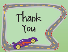 Fast Racing Car Thank You Cards