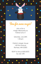 Rabbit In Magic Hat Invitations