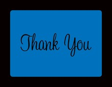 Navy Blue In Black Thank You Cards