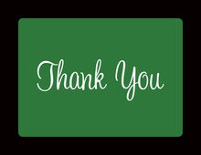 Sea Green In Black Thank You Cards