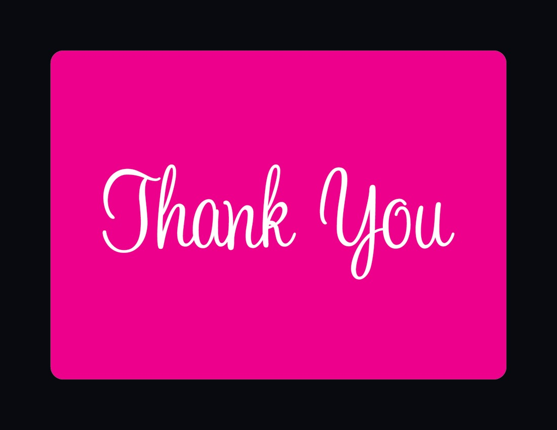 Pink /& Black Girls Football Party Thank You Cards