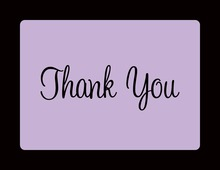 Lavender In Black Thank You Cards