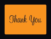 Orange In Black Thank You Cards