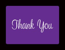Vivid Violet In Black Thank You Cards