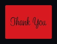 Stylish Red In Black Thank You Cards