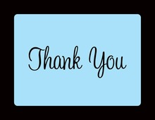 Stylish Sail Blue In Black Thank You Cards