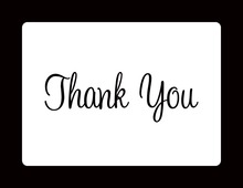 Simple White Black Thank You Cards