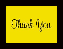 Bright Yellow In Black Thank You Cards
