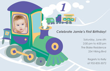 Choo Choo Train Birthday Photo Cards