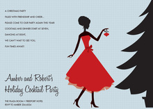 Red Christmas Lady Invitations