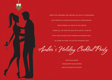 Red Love In Christmas Invitations