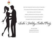 Couple Mistletoe White Invitations