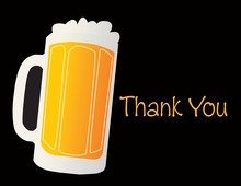 Modern Beer Party Thank You Cards