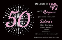 50th Birthday Celebration Invitations