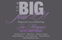 BIG Four-O Lavender Birthday Invitations