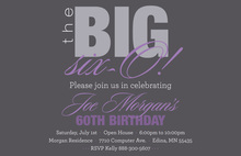 BIG Six-O Lavender Birthday Invitations
