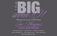 BIG Seven-O Lavender Birthday Invitations