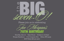 BIG Seven-O Fancy Sage Birthday Invitations