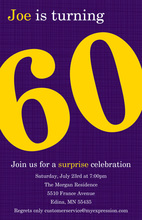 Turning 60 Glamorous Purple Birthday Invitations