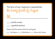 Formal Orange Black Border RSVP Cards