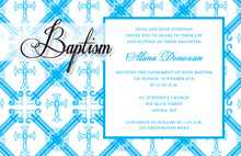 Modern Baptism Ornamental Invitations