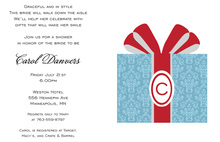 My Initial Gift Present Invitations