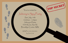 Top Secret Party Magnifying Invitations