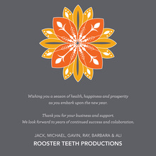Lovely Orange Flower Illustration Invites