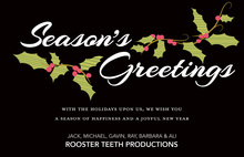 Corporate Holiday Wishes Greeting Cards