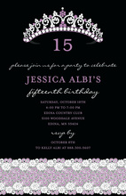 Princess Celebration Birthday Invitations