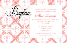 Pink Crosshatch Pattern Invitations