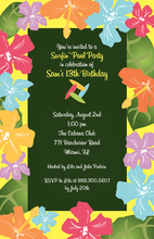 Freshly Designed Hibiscus Tropical Floral Invitations