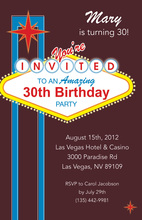 Spectacular Las Vegas City Invitations