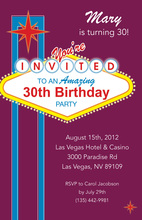 Glamorous Hot City Vegas Style Invitations