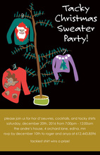 Hanging Holiday Sweater Shirts Invitation