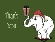 Adorable White Elephant Thank You Cards
