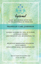 Splendid Watercolor Cross Invitations